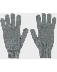 Paul Smith - Gants Gris En Cachemire Et Laine - Lyst