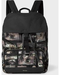 Paul Smith - Camouflage 'Paul's Camera' Print Flap Backpack - Lyst