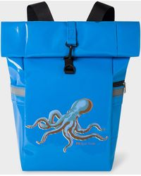 Paul Smith - Light Blue 'Octopus' Print Roll-Top Backpack - Lyst