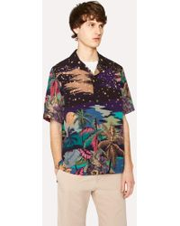 Paul Smith - Tailored-Fit 'Midnight' Print Short-Sleeve Shirt - Lyst