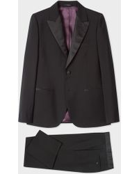 Paul Smith - The Soho - Tailored-Fit Black Wool-Mohair Evening Suit - Lyst