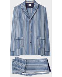 Paul Smith - Blue Signature Stripe Pyjama Set - Lyst