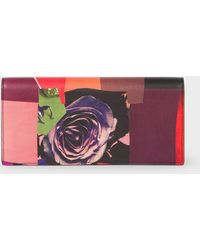 Paul Smith - 'Rose Collage' Print Leather Tri-Fold Wallet - Lyst