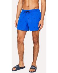 Paul Smith - Short De Bain Homme Bleu Brodé 'Sunglasses' - Lyst