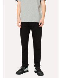 Paul Smith - Men's Tapered-fit 12oz 'super Black' Stretch-denim Jeans - Lyst