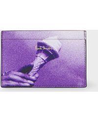 Paul Smith - Purple Pauls Photo Ice Cream Card Holder - Lyst