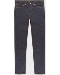 Paul Smith - Standard-Fit 13oz Indigo Rinse 'Exclusive And Pink Selvedge' Denim Jeans - Lyst