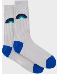Paul Smith - Men's Grey Ribbed 'rainbow' Jacquard Socks - Lyst