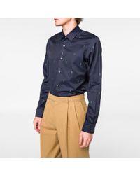 Paul Smith - X Gufram Cactus Embroidery Cotton Twill Shirt - Lyst