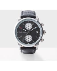 Paul Smith - Men's Grey And Black 'block' Chronograph Watch - Lyst