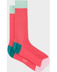 Paul Smith - Ribbed Coral Socks - Lyst
