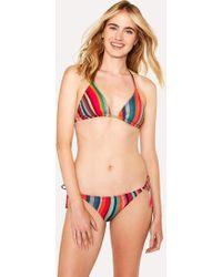 Paul Smith - 'Swirl' Print Triangle Bikini Top - Lyst