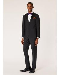 Paul Smith The Soho - Tailored-fit Black Wool-mohair Evening Suit