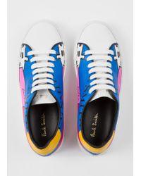 Paul Smith - 'LA Shop' Print Leather 'Basso' Trainers - Lyst