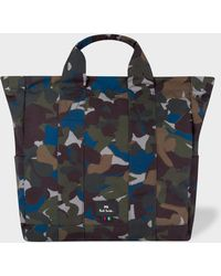 Paul Smith - Camouflage Canvas Tote Bag - Lyst