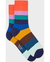 Paul Smith - Multi-coloured Large Stripe Socks - Lyst