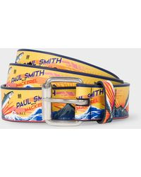 Paul Smith - 'Mackerel' Print Leather Belt - Lyst