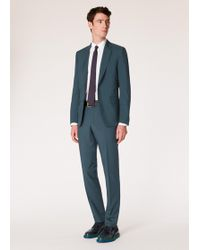 Paul Smith The Soho - Tailored-fit Petrol Wool And Mohair Suit