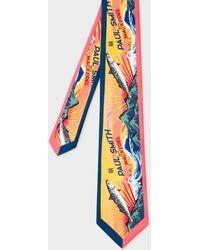 Paul Smith - 'Mackerel' Print Silk Tie - Lyst
