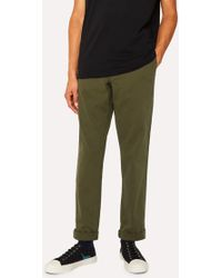 Paul Smith - Mid-Fit Khaki Stretch-Cotton Chinos - Lyst