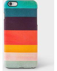 Paul Smith   Artist Stripe Leather Iphone 6 Plus Case   Lyst