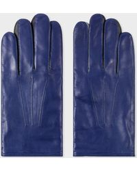 Paul Smith - Gants 'Concertina' Bleu Cobalt En Cuir D'Agneau - Lyst