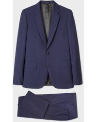 Paul Smith - Tailored-Fit Indigo Wool-Mohair Suit - Lyst