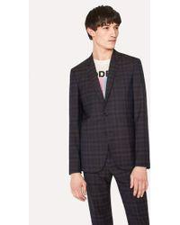 Paul Smith - Slim-Fit Tonal Check Wool Blazer - Lyst
