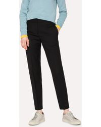 Paul Smith - A Suit To Travel In - Classic-Fit Black Wool Trousers - Lyst