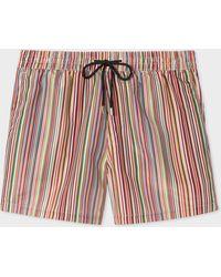 Paul Smith - 'Signature Stripe' Print Swim Shorts - Lyst