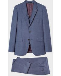 Paul Smith - The Soho - Tailored-Fit Slate Blue Check Three-Piece Suit - Lyst