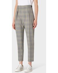 Paul Smith - Classic-Fit Grey Check Wool Trousers - Lyst