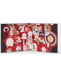 Paul Smith - & Manchester United – 'Vintage Rosette' Print Interior Billfold Wallet - Lyst