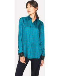 Paul Smith - Turquoise 'Daisy Polka' Print Shirt - Lyst