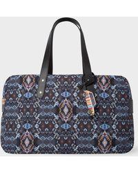 Paul Smith - Black 'Mini Kaleidoscope' Print Weekend Bag - Lyst