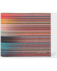 Paul Smith - Multi Artist Striped Leather Wallet - Lyst