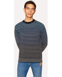 Paul Smith - Navy Gradient Stripe Jumper - Lyst