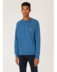 Paul Smith - Slate Blue Cotton Embroidered 'Dino' Sweatshirt - Lyst
