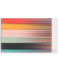 Paul Smith - Men's Leather 'artist Stripe' Print Credit Card Holder - Lyst