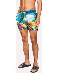 Paul Smith - Men's Martin Parr 'beach' Print Swim Shorts - Lyst