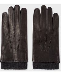 Paul Smith - Men's Black Deerskin Silk-cashmere Lined Gloves - Lyst