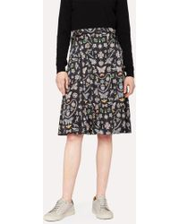 Paul Smith - Women's 'jewels' Print Pleated Skirt - Lyst