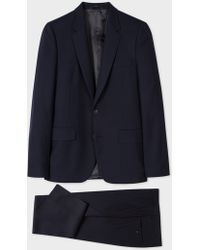 Paul Smith - The Soho - Men's Tailored-fit Navy Wool 'suit To Travel In' - Lyst