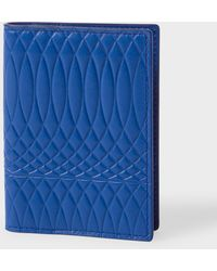 Paul Smith - Navy Leather Monogrammed Credit Card Wallet - Lyst