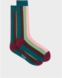 Paul Smith - Vertical 'Artist Stripe' Socks - Lyst