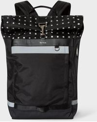 Paul Smith - Black Reflective Polka Dot Cycling Backpack - Lyst