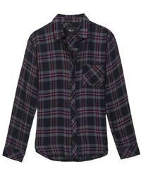 Rails - Hunter Coal Grey Rose Shirt - Lyst