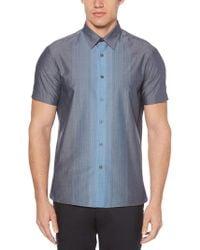 Perry Ellis - Big & Tall Short Sleeve Vertical Ombre Shirt - Lyst