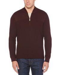Perry Ellis - Quarter Zip Sweater - Lyst