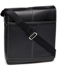 Perry Ellis - Leather Crossbody Bag - Lyst